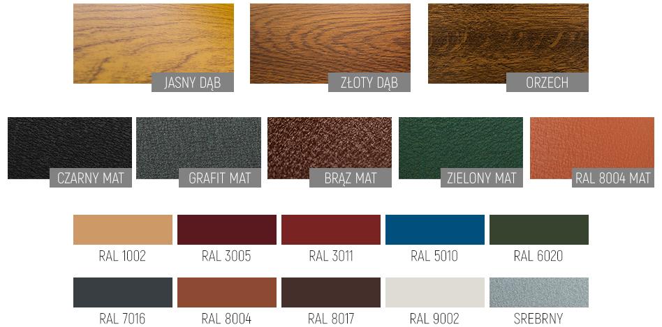 Paleta kolorów firmy POL BRAM