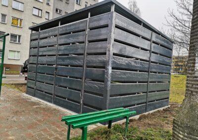 Altana śmietnikowa schowek 3,5x5 grafit